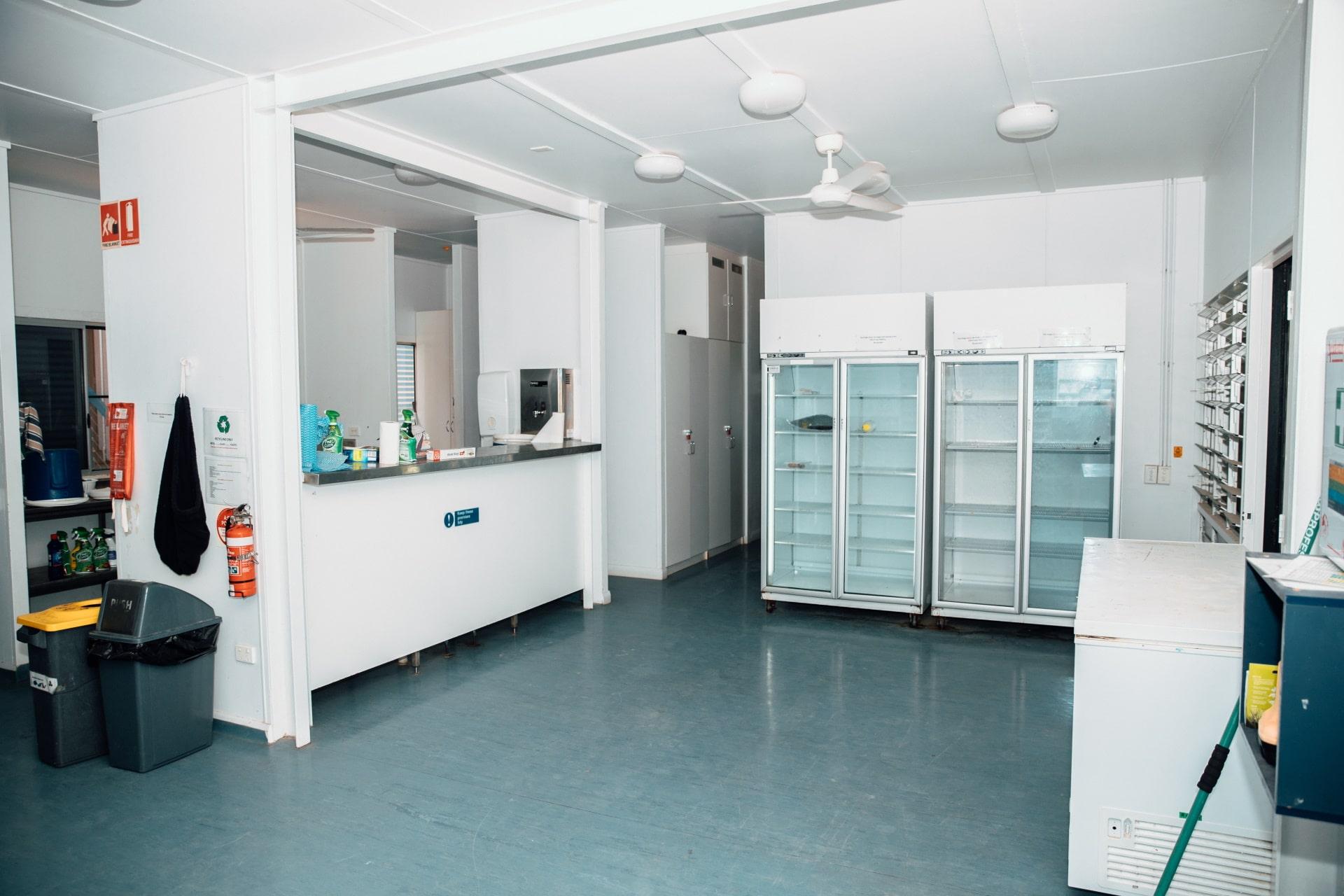 Communal fridges.