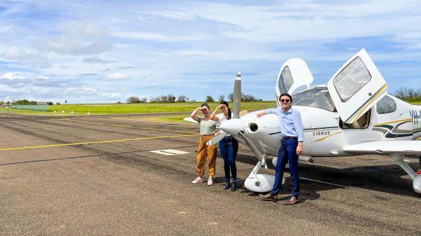 JCU students waiting to take off in Karumba