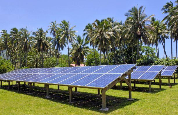 Solar PV modules in Rarotonga, Cook Islands