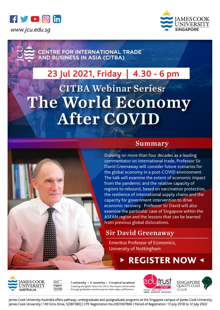 The World Economy after COVID poster.