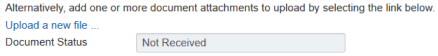 Screenshot showing Upload a new file link
