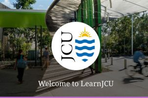 LearnJCU welcome page