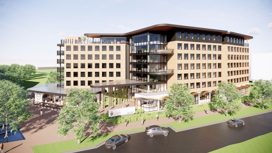 Artist impression of student accommodation to be built on JCU's Townsville campus