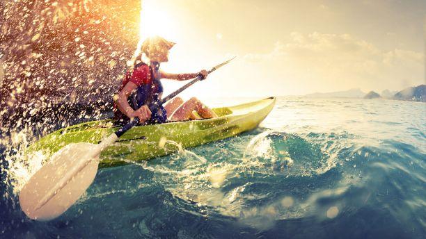 Rower training in ocean