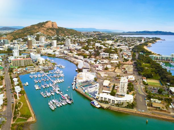 Townsville marina aerial view