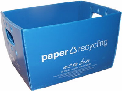 Desk side paper bin