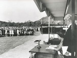 On April 20, 1970, the Queen visited Townsville and made the establishment of the James Cook University official