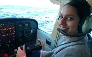 Bavelin Gill flying plane