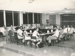 College Council meeting in 1974