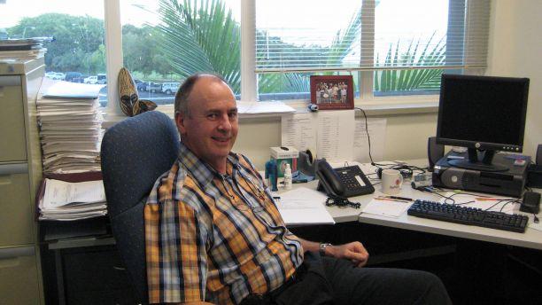 John McBride in his office