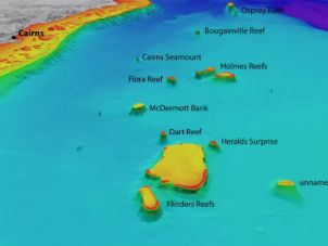 3D depth maps of the Coral Sea reefs towards Cairns.