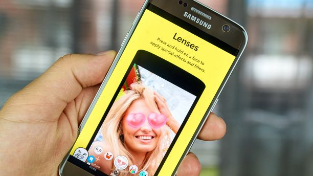 A mobile phone showing an image processing app