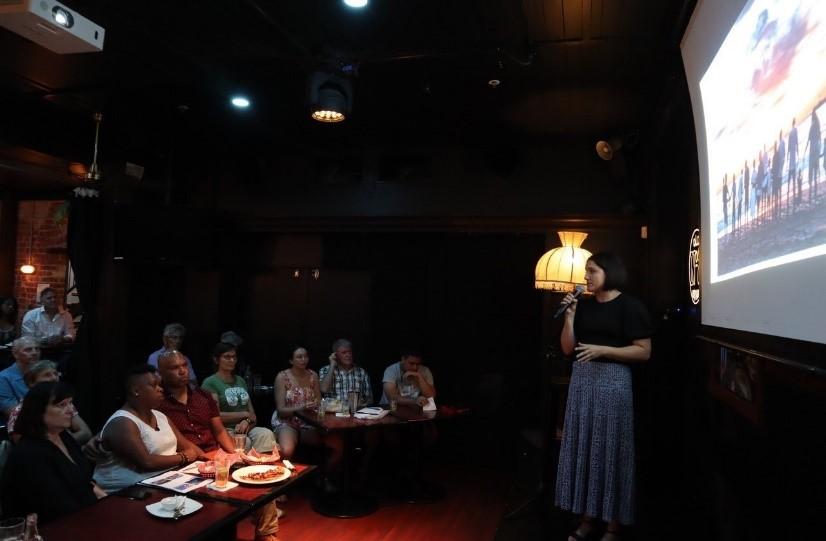 Diana Castorina giving presentation.